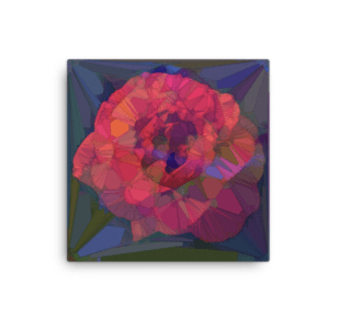 """Fractured Flower"" Canvas Print"