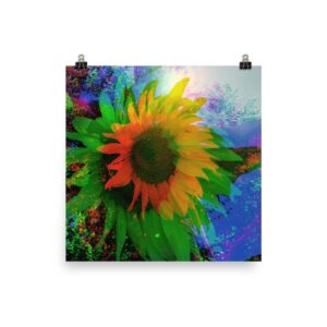 """""""Sunflower"""" Photo paper poster"""